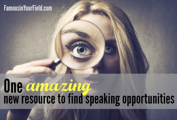 One amazing new resource to find conferences for speaking gigs